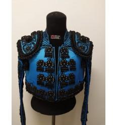Traje de torero azul turquesa y azabache