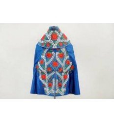 Blue parade capes embroidered in Silver.